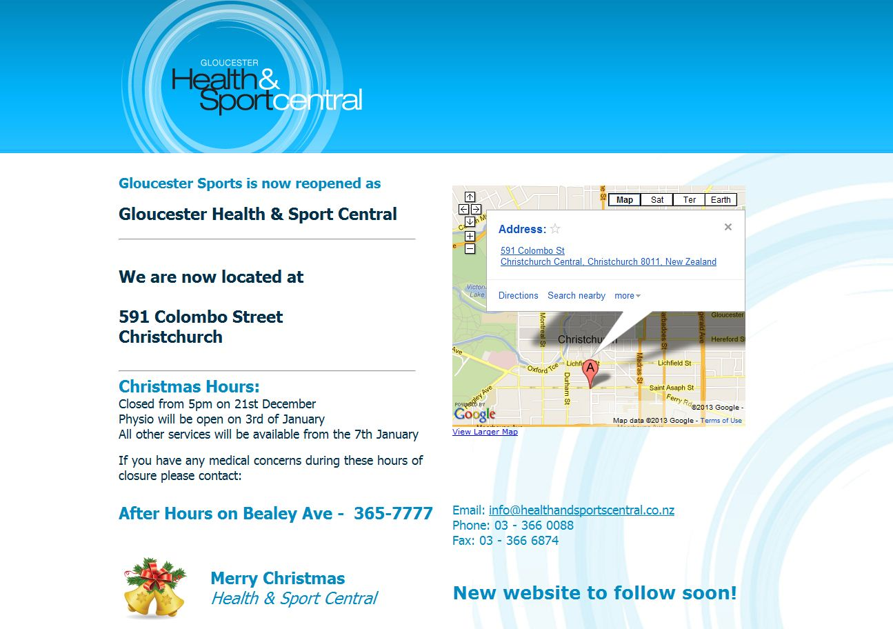 Gloucester Sports Clinic Christchurch